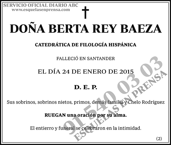 Berta Rey Baeza